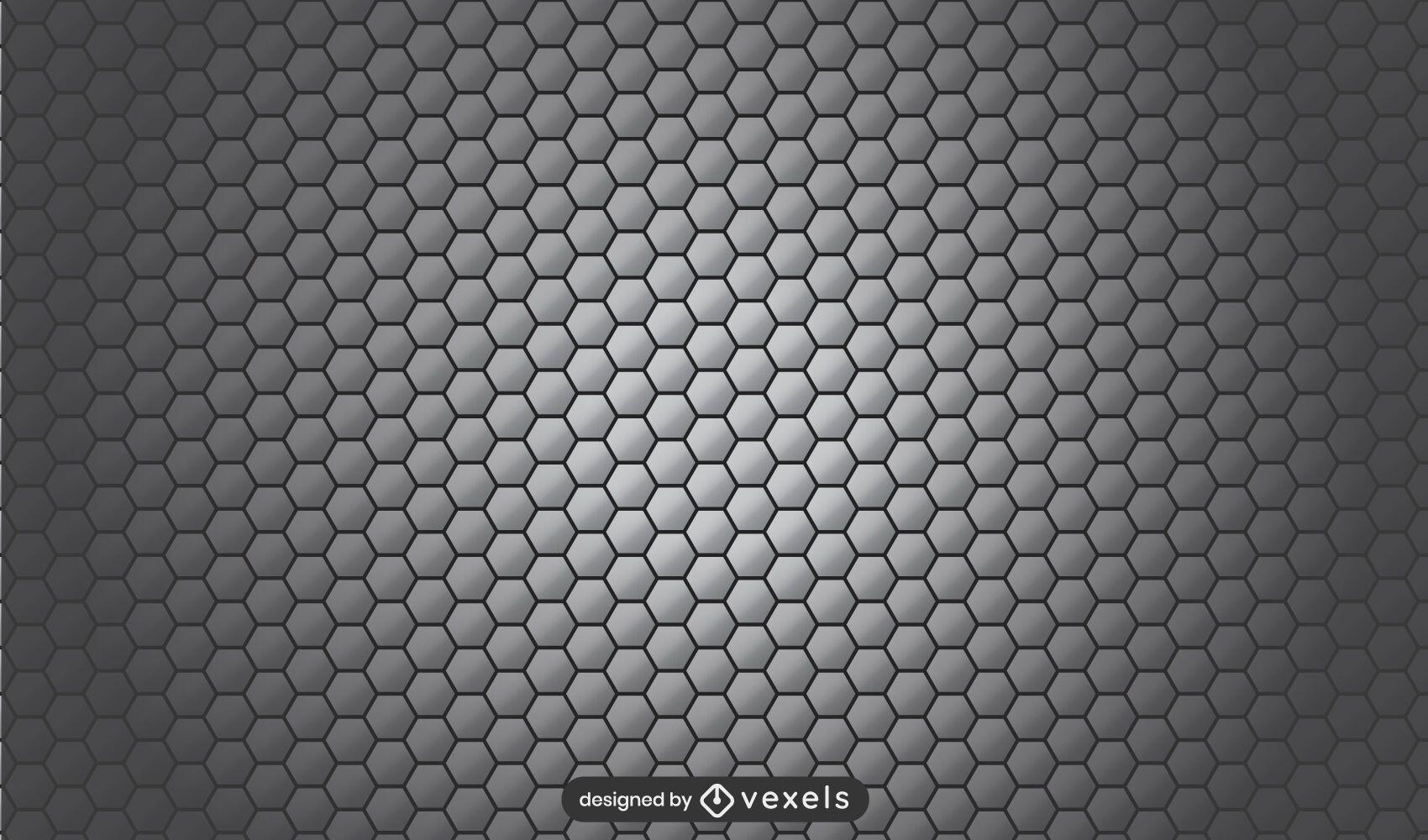 Honeycomb gray pattern