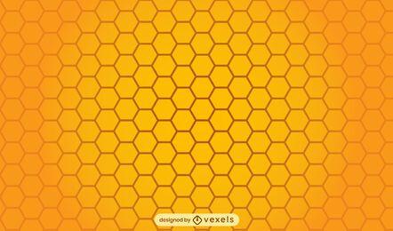 Desenho de padrão de abelha de favo de mel