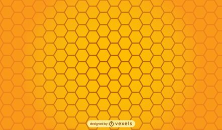 Honeycomb bee pattern design