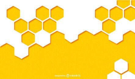 Desenho de fundo de favo de mel