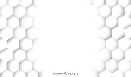 Diseño de fondo blanco de panal