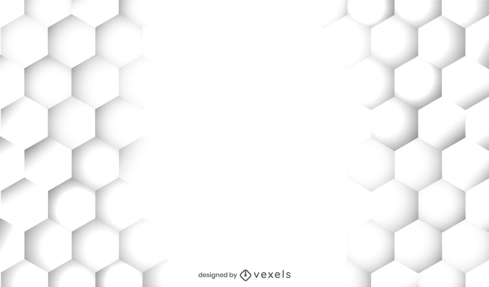 Desenho de fundo branco de favo de mel