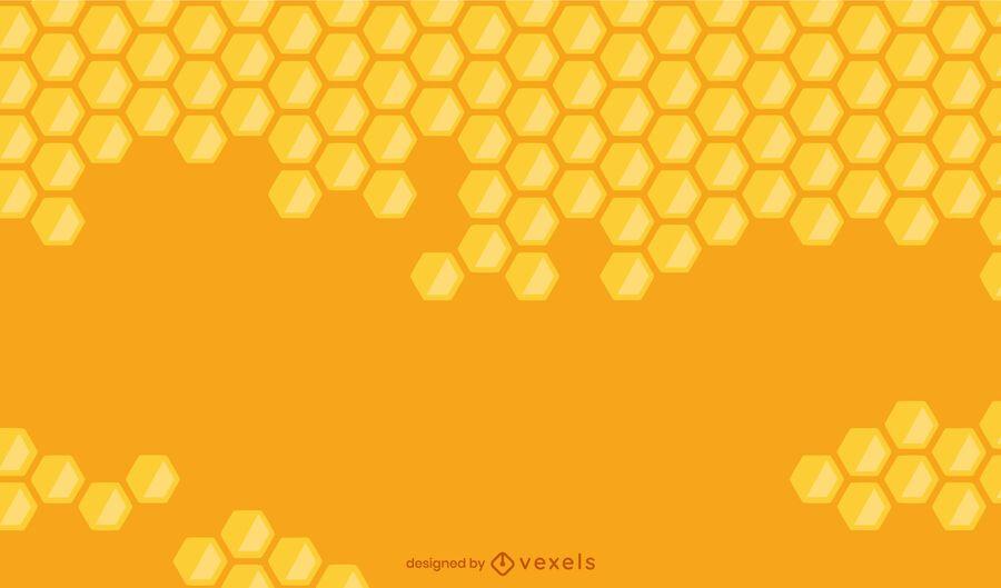 Fondo degradado de nido de abeja