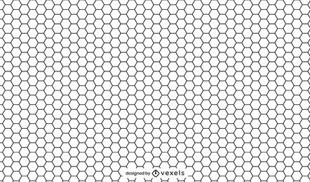 Honeycomb black and white pattern