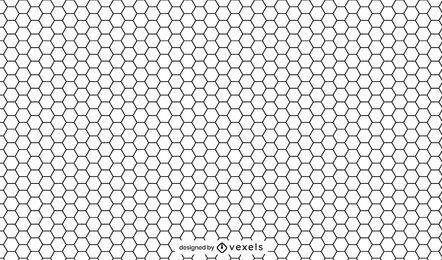 Schwarzweiss-Muster der Wabe