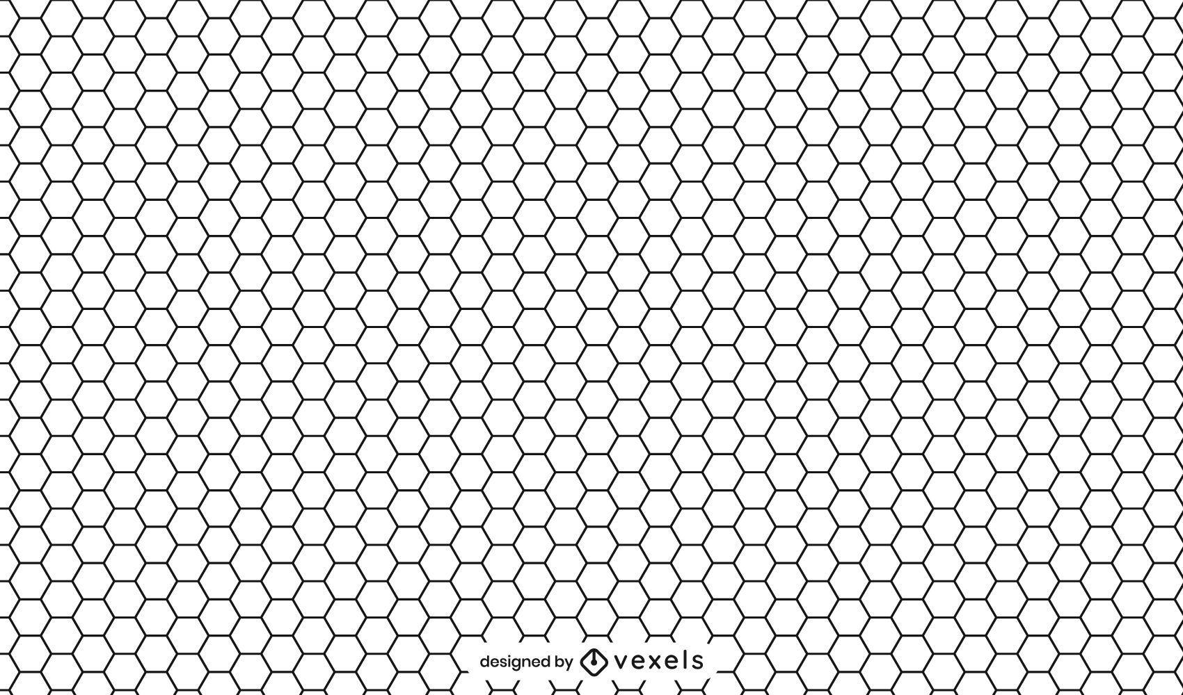 Honeycomb black and white pattern