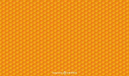 Desenho de padrão de favo de mel de abelha