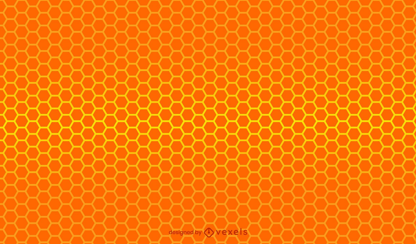 Diseño de patrón de gradiente de panal