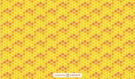 Projeto padrão sem emenda de favo de mel