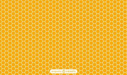 Diseño de patrón de panal naranja