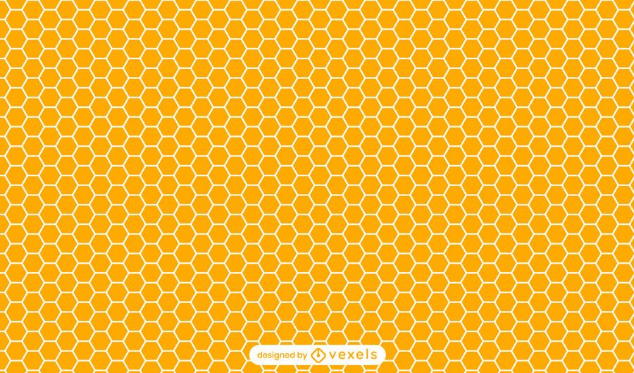 Honeycomb orange pattern design