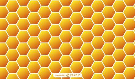 Design de padrão de favo de mel laranja