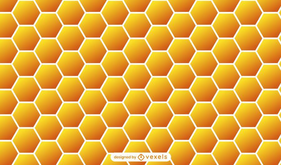 Honeycomb orange pattern design