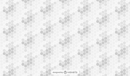 Patrón de panal gris degradado