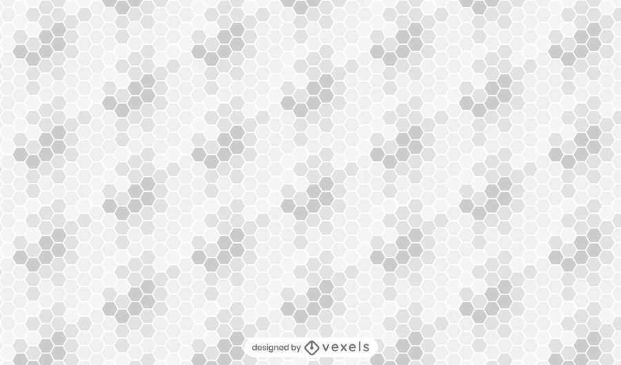Honeycomb gradient gray pattern