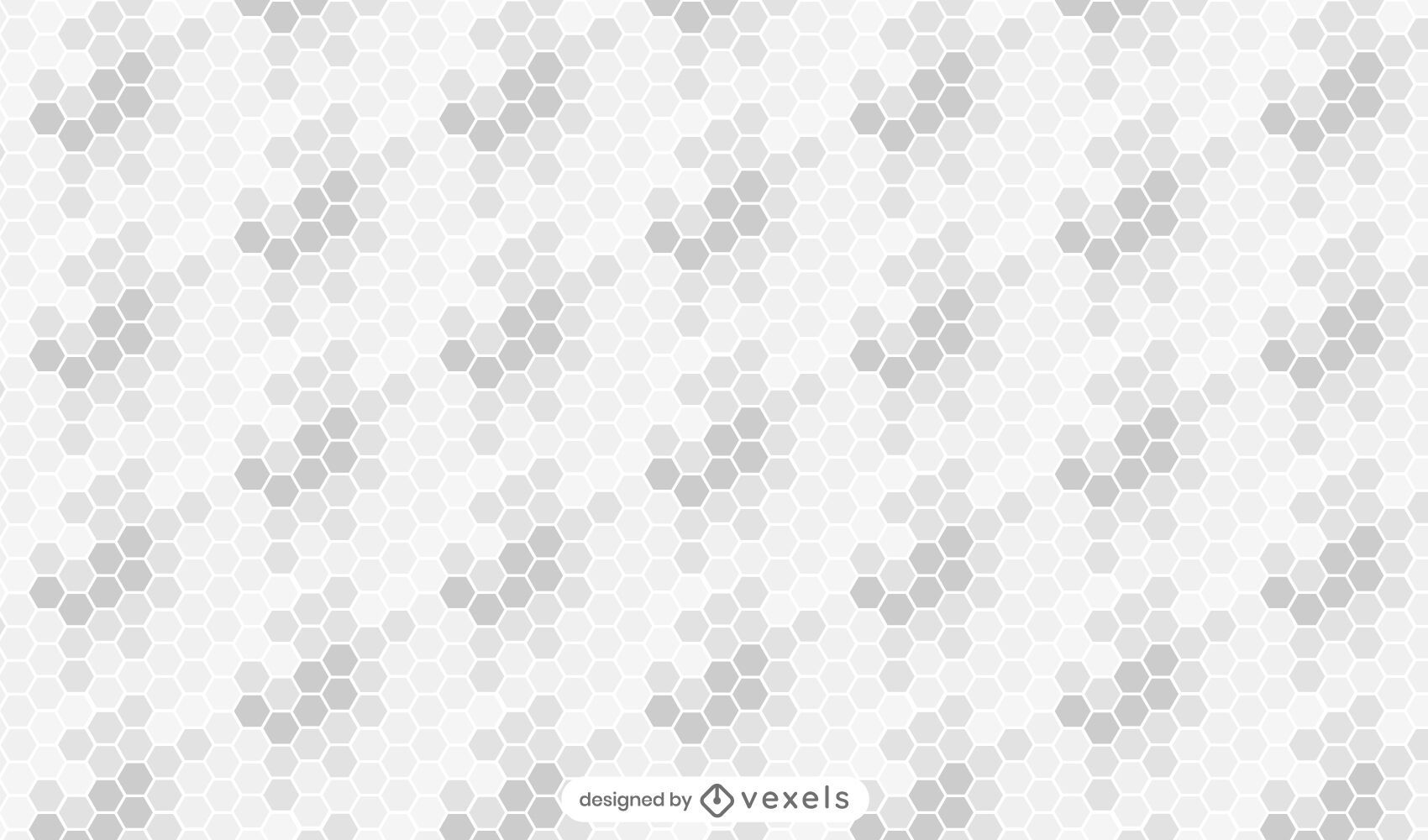 Honeycomb gradient gray pattern