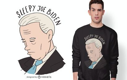 Design de t-shirt sonolento joe biden