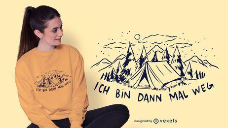 Diseño de camiseta alemana de camping