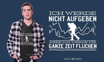 Wandern deutsches T-Shirt Design