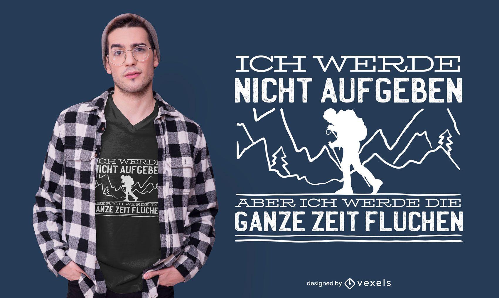 Diseño de camiseta alemana de senderismo.