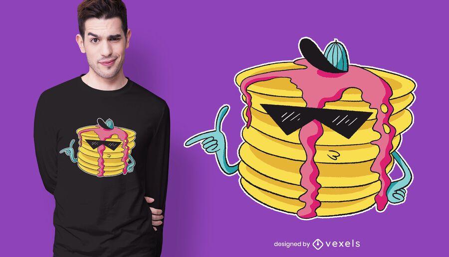 Diseño de camiseta Cool Pancake