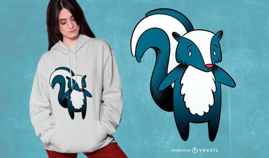 Skunk Cartoon T-shirt Design