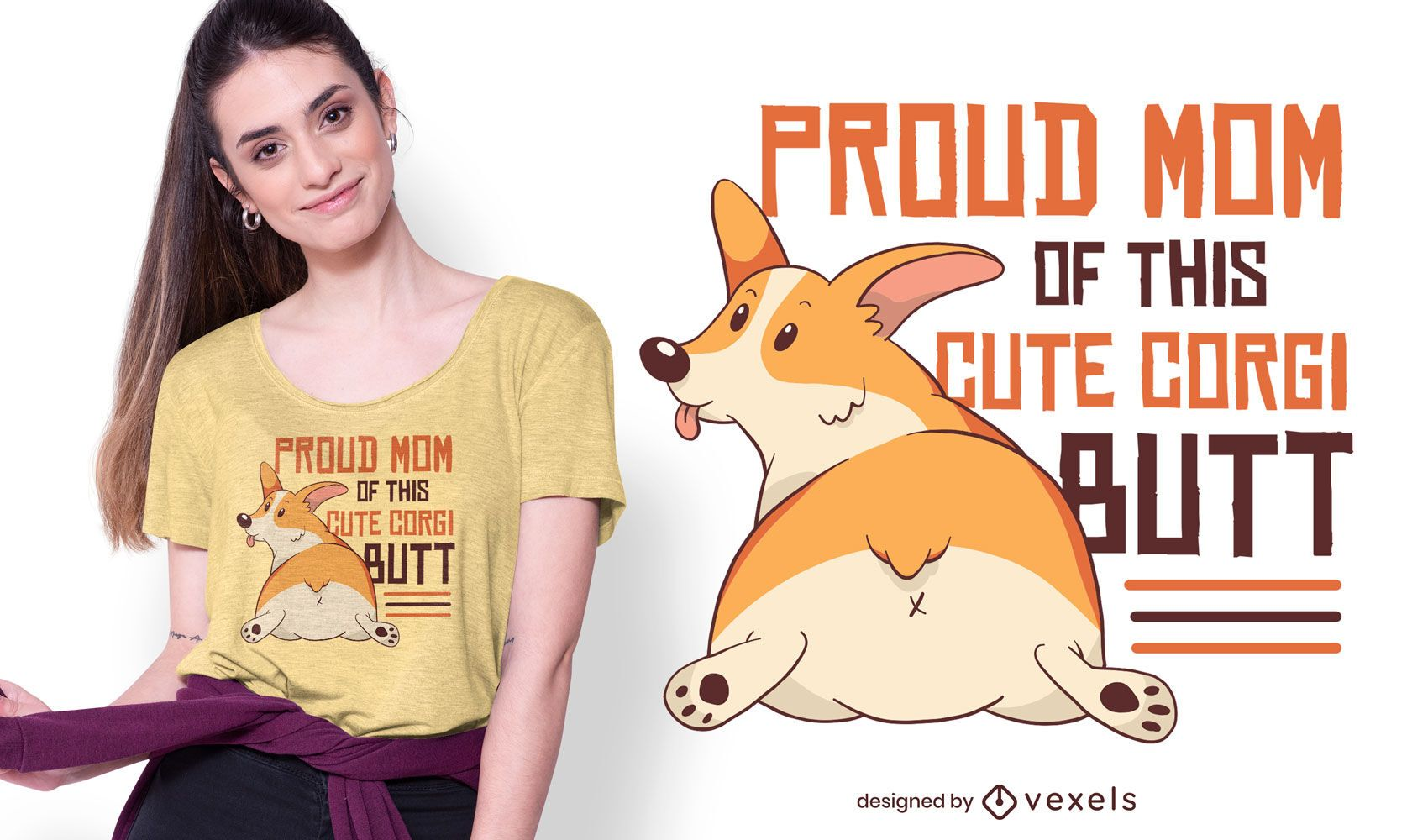 Corgi mom t-shirt design