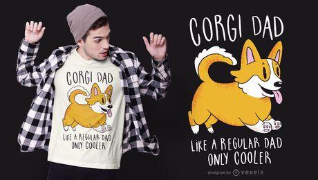 Diseño de camiseta de papá Corgi