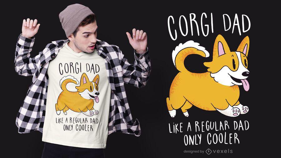 Projeto do t-shirt do pai do Corgi