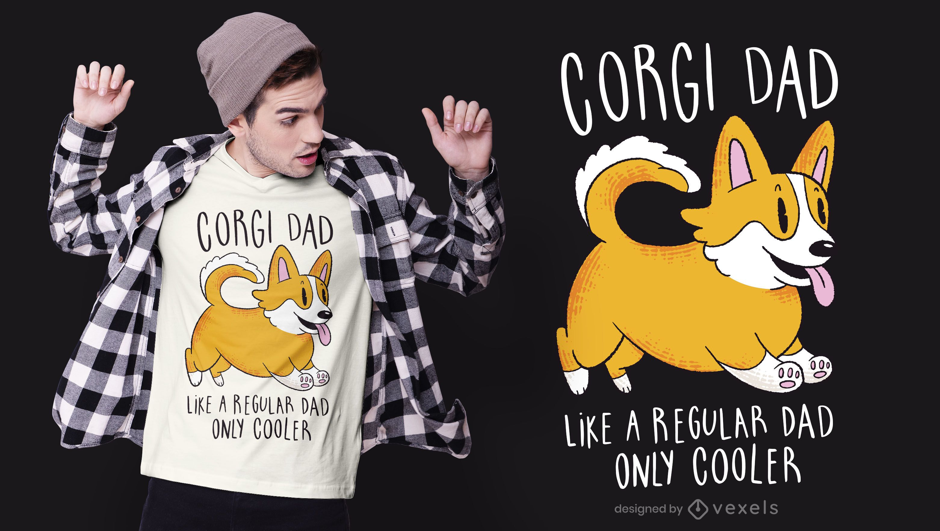 Corgi dad t-shirt design
