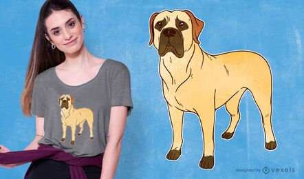 Diseño de camiseta de raza de perro Boerboel.
