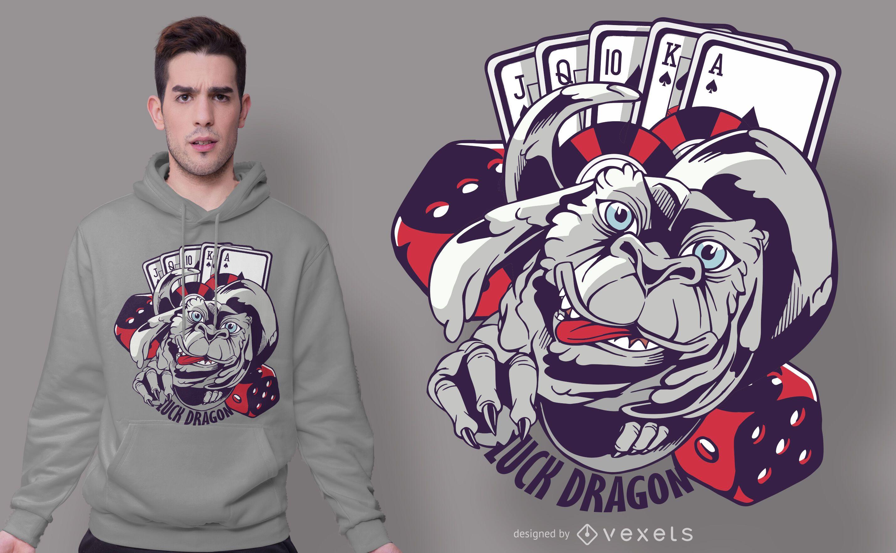 Casino Luck Dragon T-shirt Design