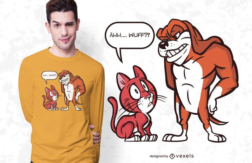 Design de t-shirt de cachorro grande