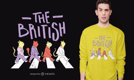 O design britânico da camiseta