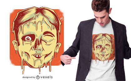Diseño de camiseta Face Melting