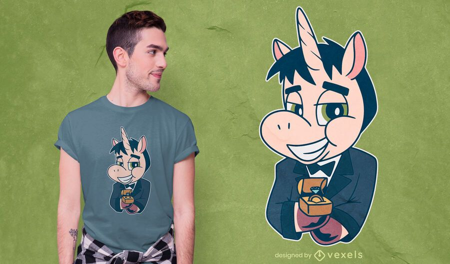 Unicorn groom t-shirt design