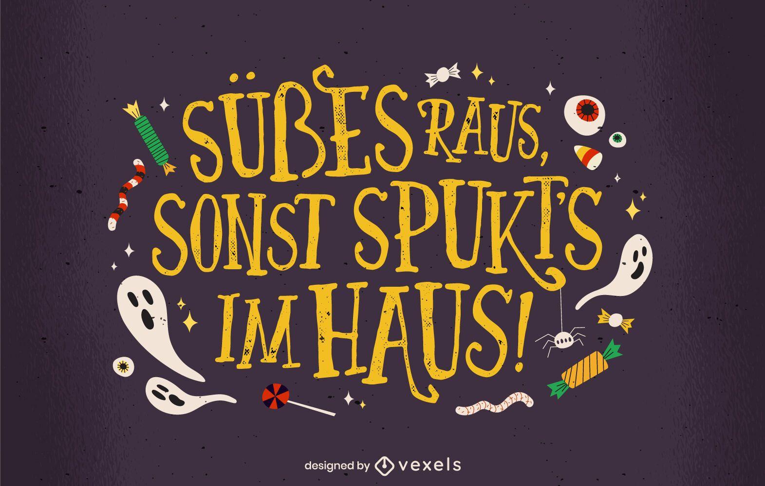 Trick or treat german lettering