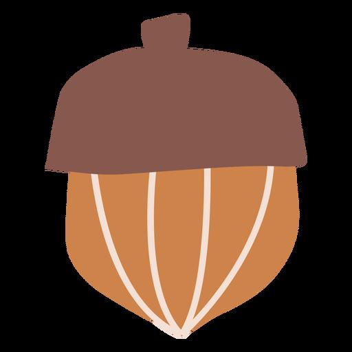 Autumn acorn flat