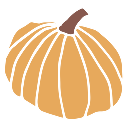 Autumn pumpkin flat
