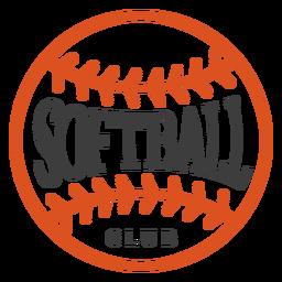 Badge softball club