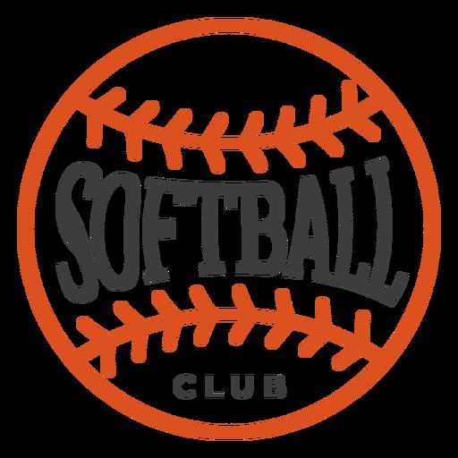Club de softbol insignia