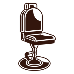 Vintage de cadeira de barbeiro