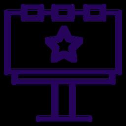 Icono de trazo de cartelera