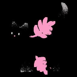 Gato negro con textura