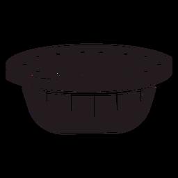Postre de pastel negro