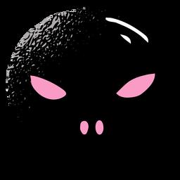 Cráneo negro con textura