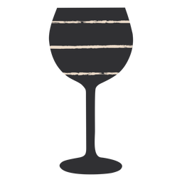 Black wine glass fla