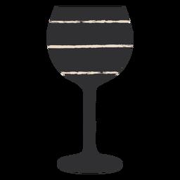 Black wine glass fla
