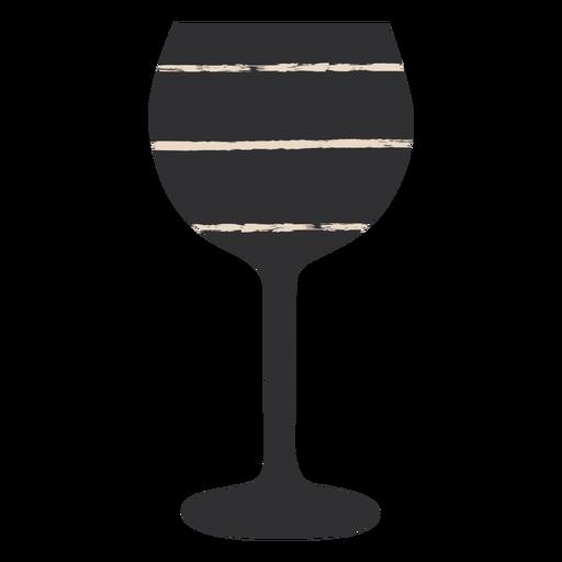 Copa de vino negro fla