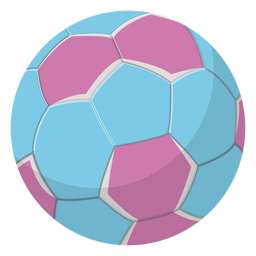 Blue handball illustration